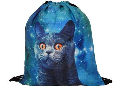 Trendy Batoh Batůžek Vak 3D FullPrint Galaxy Space Cat